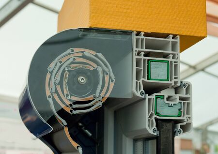 Cutaway model of a window roller blind photo