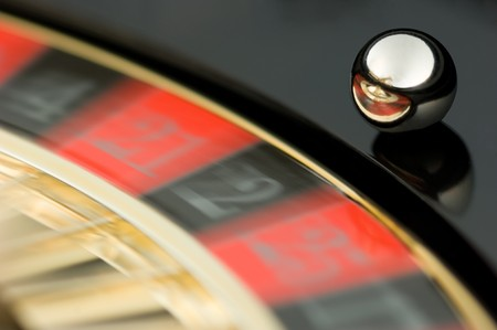 compulsive: Rotating roulette plate with a running ball