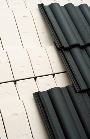 Thermal insulation of a house roof photo