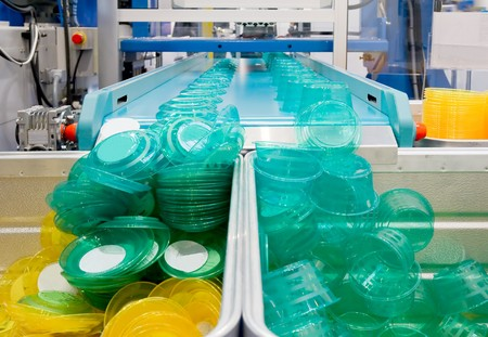 Mass production of plastic containers Stock Photo - 8140744