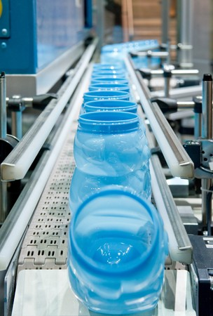 Mass production of plastic containers