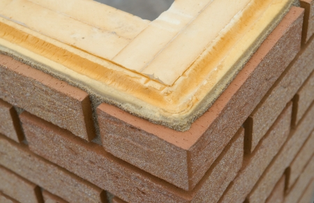 Thermal insulation of a brickwall photo