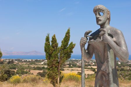 hippocrates: Statue of Asclepius, Kos, Greece