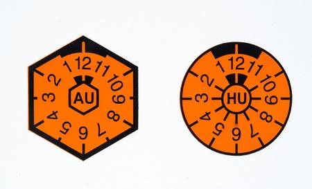 TÃœV-seal and AU-badge