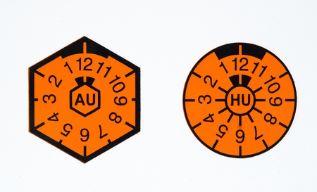 TÜV-seal and AU-badge