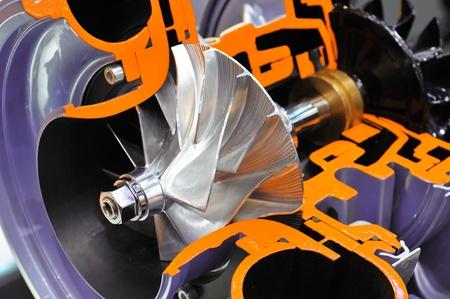 Cutaway model of a turbocharger Standard-Bild