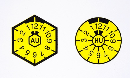 Uuml,V-seal and AU-badge