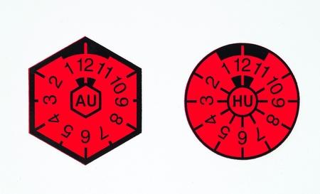 German AU and HU-badge Standard-Bild