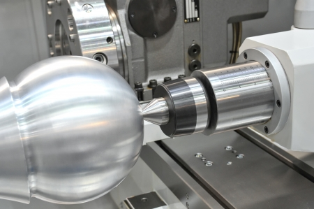 Lathe, CNC Stock Photo