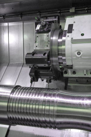 milling center: Lathe, CNC milling Stock Photo