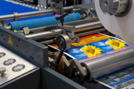 printing machine: Printing machine Stock Photo