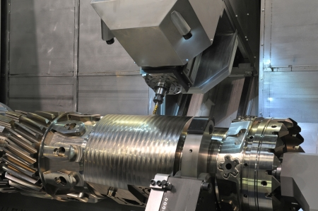 Lathe, CNC milling Stock Photo