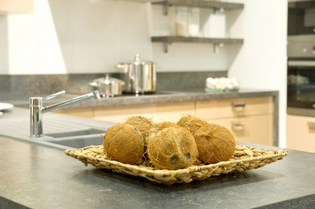 Coconuts in a kitchen photo