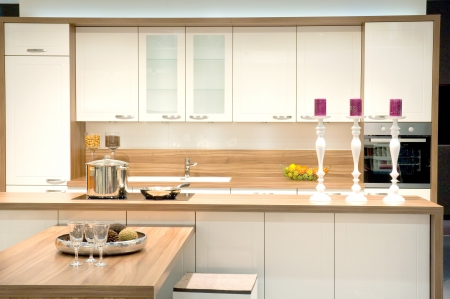 Modern fitted kitchen photo