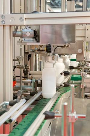 filling line: Bottling plant Stock Photo