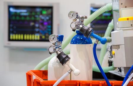 oxygen: Notfallausrüstung emergency equipment  Stock Photo