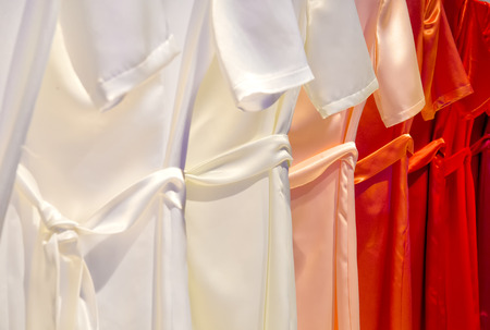 silky lingerie: Dresses in a row