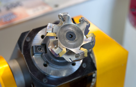 automated tooling: Metal drilling Stock Photo