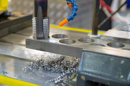 Metal drilling Standard-Bild