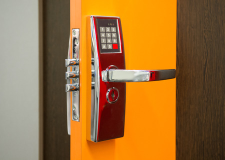 Electronic Security door lock photo