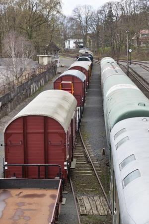 Wagons at a train station photo