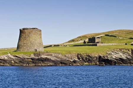 Broch of Mousa at shetlands island photo
