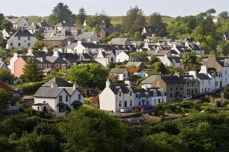 house gable: Small village in Scotland, Tobermory