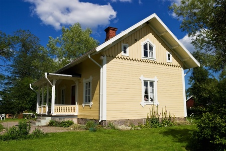 Old yellow cottage