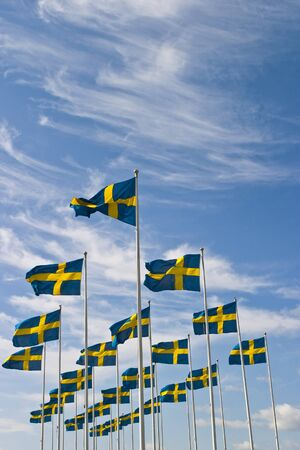 to sway: Swedish flag sway in the breeze