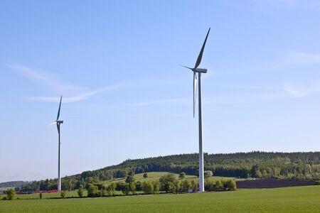 Wind turbines in the countryside photo