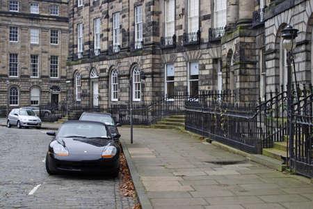 Street parking in Edinburgh Scotland
