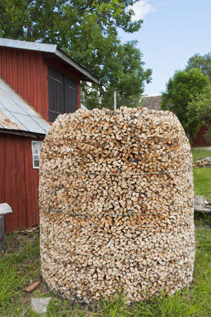 countrylife: New carved wood stack on the farm