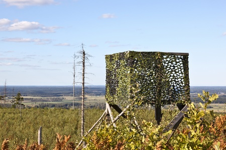 Hunting Tower on a clearcutting area