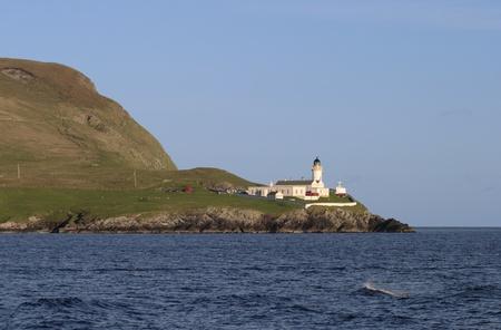Ligthhouse on the Shetland coast.