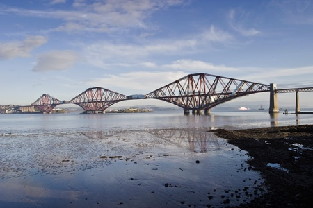 conveyed: Forth Rail Bridge at South Queensferry Scotland