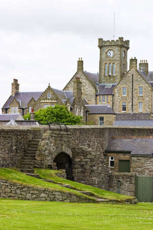 Clock Tower in Lerwick, Shetland Stock Photo - 12339471