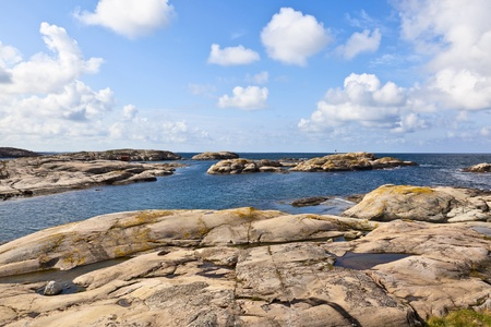 Rocky sea archipelago of islands in the summer time Stock Photo - 13085371