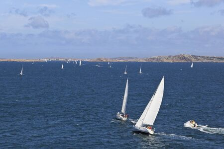 Sailboats in the summer archipelago Stock Photo - 13085325