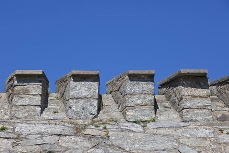 fortified wall: Fortified wall on a fortress Stock Photo