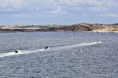 motorboats: Motorboats in the summer archipelago