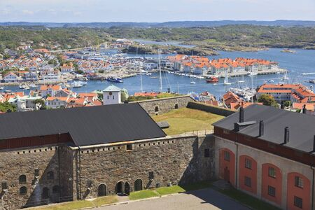 View over Marstrand in Sweden frome the fortress