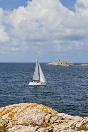 Sailboats in the summer archipelago Stock Photo - 13669249
