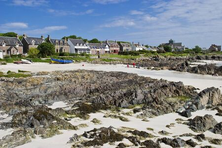 Sandy beach in Iona Scotland  Stock Photo - 13906517
