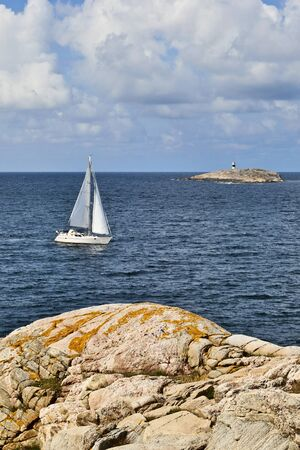 Sailboats in the summer archipelago photo