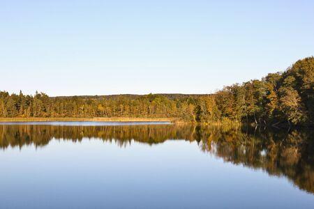 Mirror lake in autumn landscape Stock Photo - 14227578