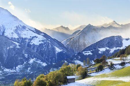 View of alp landscape Stock Photo - 14828919