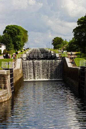 Neptun�s staricase at Caledonian canal photo