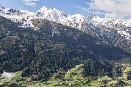 matrei: View of valley and mountains in the Alps