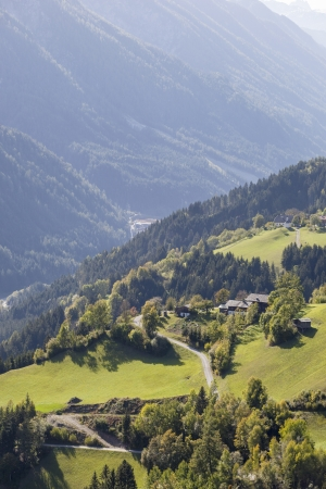 View of Bannber valley in Austria photo