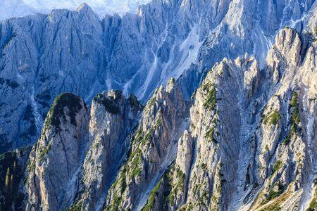 ravine: Steep mountain sides of the ravine